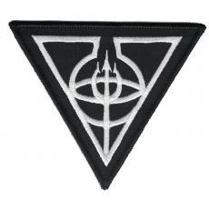 Apotheosis Omega - Dreieck Logo weiss (Aufnäher)